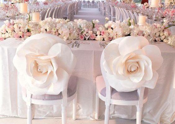 Ideid suurte paberlillede kasutamiseks pulmas